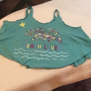 California beachlover crop top